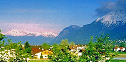 The Austrian Alps from Hall-In-Tyrol, just east of Innsbruck. http://www.enjoy-europe.com/12-1204.jpg