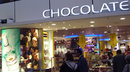 The duty free chocolate shop at Amsterdam's Schiphol Airport. http://www.enjoy-europe.com/23-P1250471.jpg
