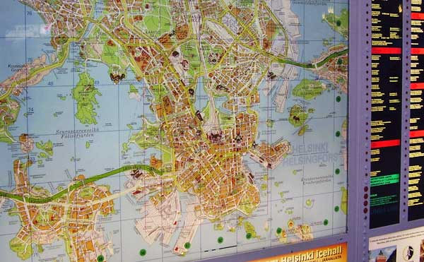 Finland prime travel data a map of helsinki posted at the dock publicscrutiny Gallery