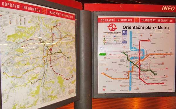 Prague Subway Mapinfo.Czech Republik Prime Travel Data