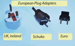 The three main plug adapters used in Europe. http://www.enjoy-europe.com/home/12-1204-3.jpg