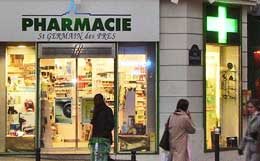 A pharmacie in Paris, France.