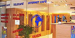 An internet cafe in Dresden, Germany. http://www.enjoy-europe.com/home/172-p1020015-3.jpg