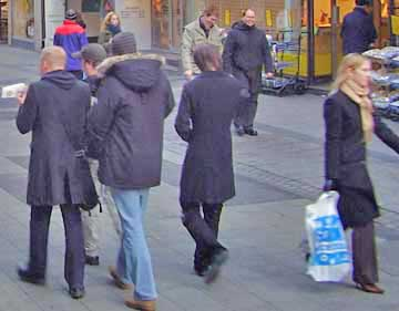 Long coats are favored in Oslo Norway.