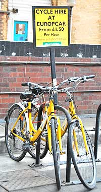 Bike rental at the York, England train station. http://www.enjoy-europe.com/hte/chap17/102N0355.jpg