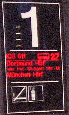 Here is the detail of the German ICE train sign.