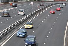 Expressway near Belfast, Northern Ireland.