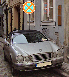 Ticketed Mersedes. http://www.enjoy-europe.com/hte/chap18/Chap18images/P1170078MercedesTicketed.jpg
