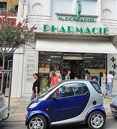 A Smart Car parked in La Baule, France.