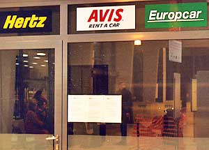 Rent-a-Car office at the Toul, France train station.
