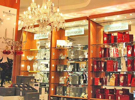 The Blarney Castle souvenir shop outside Cork, Ireland features plenty of Waterford Crystal.