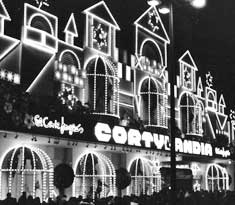 The El Corty Engles department store in Madrid, Spain at Christmas.