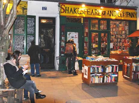 The Shakespeare & Company bookstore in Paris.