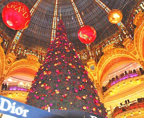 The beautiful Galeries Lafayette department store in Paris, France.