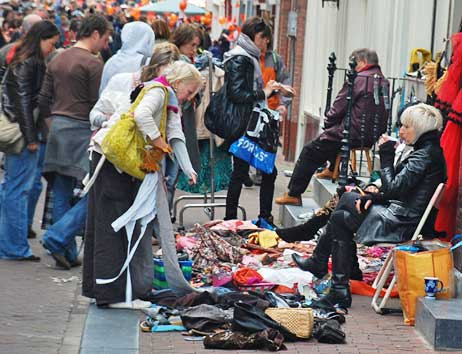 Garage Sale - Amsterdam Style on Queen's Day.