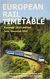European Rail Timetable Summer 2015
