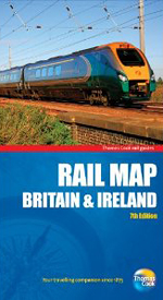 Rail Map of Britain & Ireland, 7th, Thomas Cook Rail Map