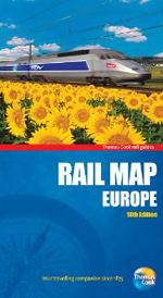 Rail Map Europe, 18th, Thomas Cook Rail Map