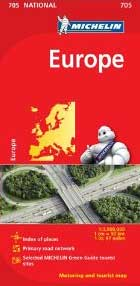 Europe Map Michelin