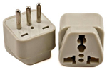 Plug Adapter for Italy Universal to Italian Grounded 3 pin