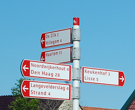 Bike Road Sign