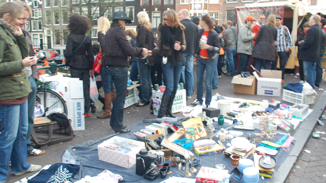 Garage Sale On The Bridge, Queen's Day, Amsterdam