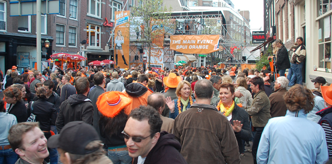 Main Event Spui Orange, Amsterdam, Queen's Day