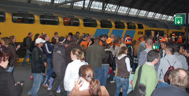 Mob At Amsterdam Centraal Station
