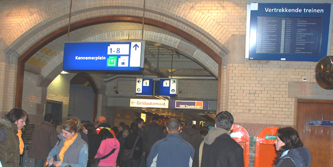 Mob At Haarlem Station