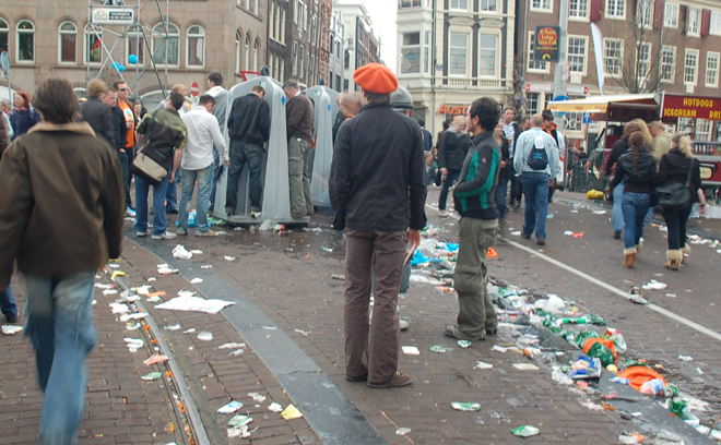 Taking A Leak, Queen's Day, Amsterdam