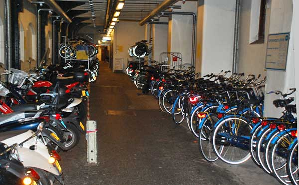 Bicycle Parking At Haarlem Train Station
