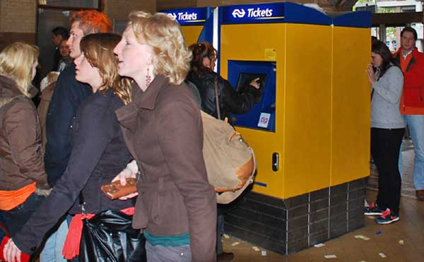 Buying Tickets At Haarlem Station