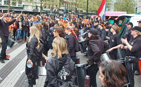 Drum Band In Amsterdam
