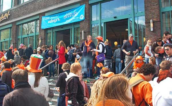 Front Steps Of Albert Heijn Grocery Store