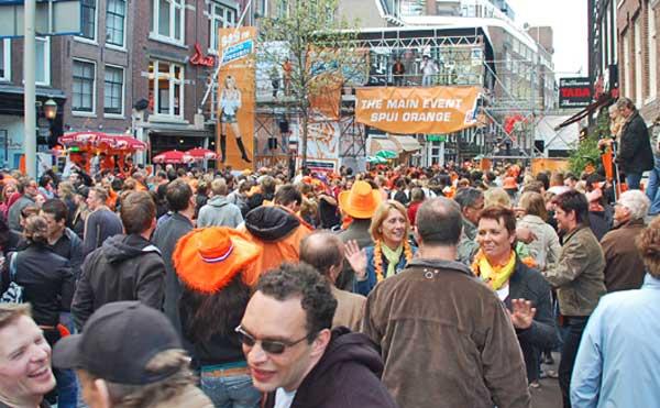 Main Event Spui Orange, Amsterdam, Queen's Day