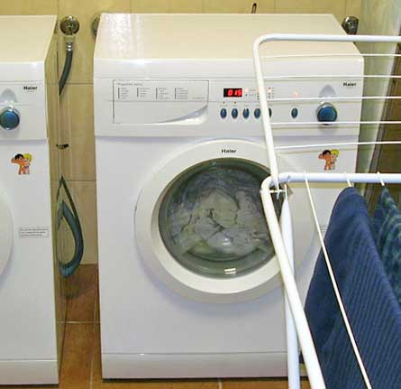 Washing machines and 'dryer' in my hostel in Riga, Lithuania. http://www.enjoy-europe.com/cds/P1170060-RigaHostelWasher.jpg