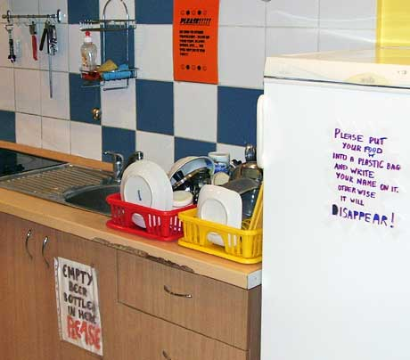 The kitchen in my hostel in Riga, Lithuania. http://www.enjoy-europe.com/typ/images/P1180127-VilniusHostelKitchen.jpg
